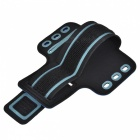"Universal EVA Sports Gym Armband for 4.5~5.0"" Cell Phone - Blue + Black"