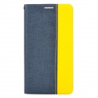 Orcal Pattern Protective Flip Open PU Leather Case for Samsung Note3 - Deep Blue + Yellow
