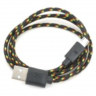 USB to Micro USB Data/Charging Woven Nylon Cable for Samsung Galaxy S3 / S4 - Black