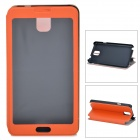 Protective PU Leather Case w/ Display Window for Samsung Galaxy Note 3 N900 - Orange