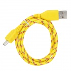 USB to Micro USB Data/Charging Woven Nylon Cable for Samsung Galaxy S3 / S4 - Yellow