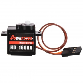 Power HD-1600A 180 Degree Micro Servo R/C Robot Servo - Black