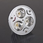 exLED MR16 3W 280lm 3000K 3-LED Warm White Light - Silber + Weiß (12V)