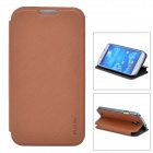Protective PU Leather + PC Case for Samsung Galaxy S4 i9500 - Brown