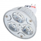 exLED GU5.3 MR16 12V 3W 6000K 280lm 3-LED Cool White Spotlights (12V)
