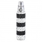 HDS131000012 Stainless Steel USB Electronic Cigarette Stem w/ Crystals - White + Black