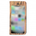 Tree Skin Pattern Protective Flip Open Case w/ Stand for Iphone 5C - Brown