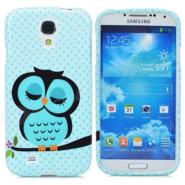 Cute Owl Style Protective TPU Back Case for Samsung Galaxy S4 i9500 - Blue + Black protective cute spots pattern back case for samsung galaxy s4 i9500 multicolored