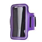 "Universal EVA Sports Gym Armband for 4.5~5.0"" Cell Phone - Purple + Black"