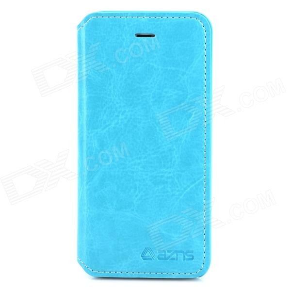 AZNS Protective PU Leather Case w/ Stand for Iphone 5 - Blue azns protective pu leather case for samsung i8552 red