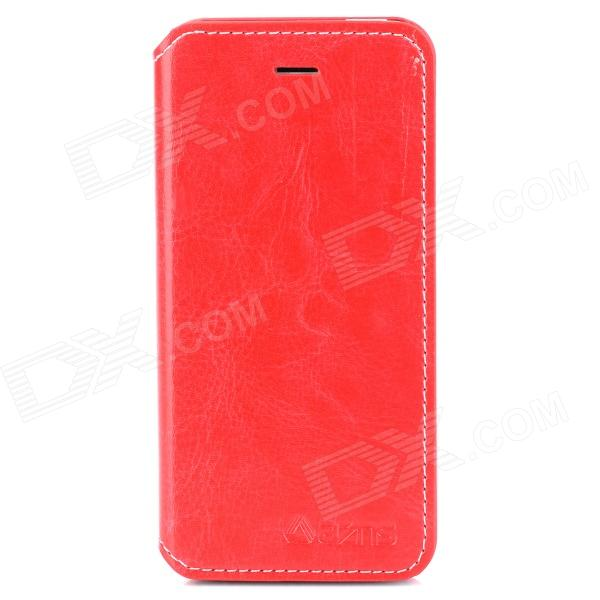 AZNS Protective PU Leather Case w/ Stand for Iphone 5 - White azns protective pu leather case for samsung i8552 red