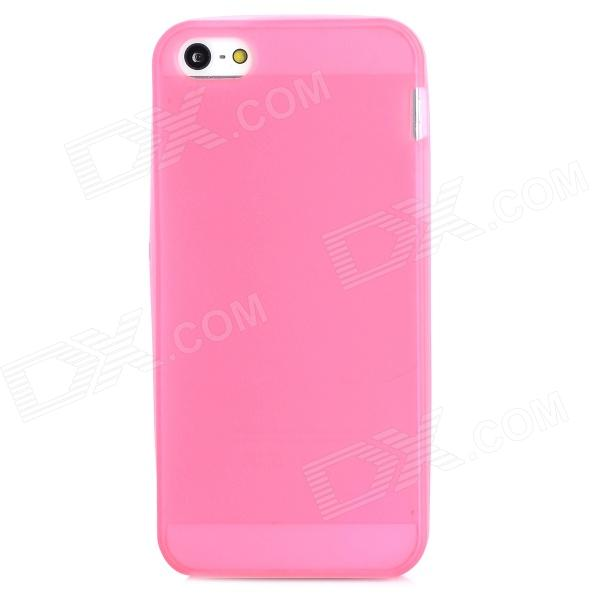Glow-in-the-Dark Protective Frosted TPU Back Case for Iphone 5 / 5s - Deep Pink girl pattern glow in the dark protective tpu back case for iphone 4 4s white light pink