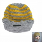 Wool Hat w/ Mask - Yellow + Grey