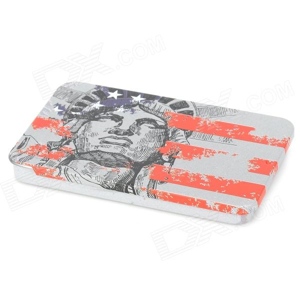 A005 Portable Statue of Liberty + US National Flag Pattern Iron Name Card Case diy 24 national flag patterns electric paper airplane module toy multicolored