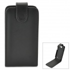Classic Flip-open PU Leather Case for Samsung Galaxy Express i8730 - Black