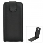 Classic Flip-open PU Leather Case for Samsung Galaxy S4 Active i9295 - Black