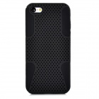 2-in-1 Protective Plastic + Silicone Back Case for Iphone 5C - Black