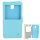 NILLKIN Fashionable Flip-open PU Leather Case w/ CID Window for Samsung Galaxy Note 3 N9000 - Blue