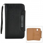 KALAIDENG Fashionable Flip-open PU Leather Case w/ Card Slot for Samsung Galaxy Note 3 N9000 - Black