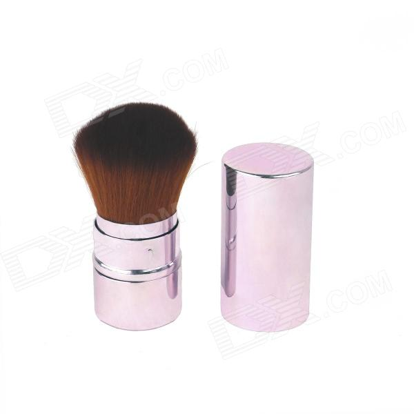 Retractable Cosmetic Make Up Powder Brush - Pink