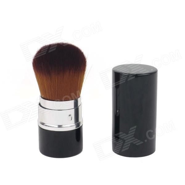 Retractable Cosmetic Make Up Powder Brush - Black
