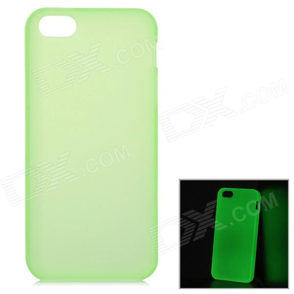 Glow-in-the-Dark Protective Frosted TPU Back Case for Iphone 5 / 5s - Green s what protective tpu back case w anti dust plug for iphone 5 5s transparent purple