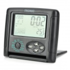 "C10 3.0"" LCD Display Screen Temperature Display Calendar Clock - Black"
