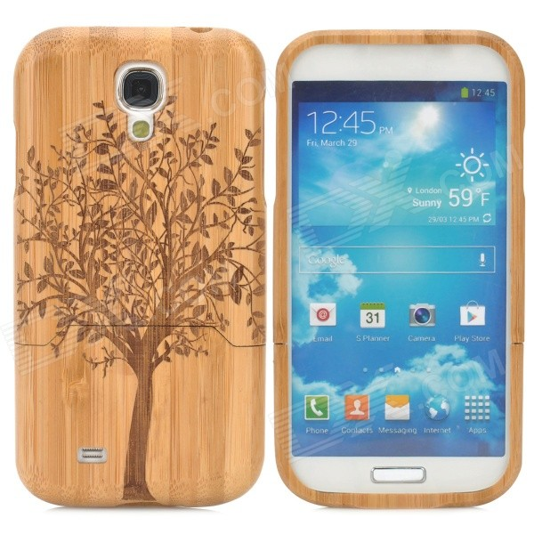 Retro Tree Pattern Protective Bamboo Back Case for Samusng S4 i9500 - Yellow + BrownPlastic Cases<br>Brand N/A Quantity 1 Piece Color Yellow + brown Material Bamboo Compatible Models Samsung Galaxy S4 Other Features Prevents scratches dirt and bumps as well as being shock-proof; Allows access to all buttons and functions; Easy to install and unload Packing List 1 x Back case<br>