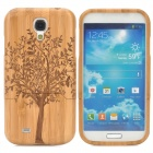 Retro Tree Pattern Protective Bamboo Back Case for Samusng S4 i9500 - Yellow + Brown