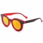 CARSHIRO 3088 Round UV400 Protection Resin Lens Sunglasses - Black + Red