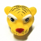 Pet Exclaimed Tiger Vinyl Toy - Yellow + Black + White + Red