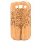 Retro Tree Pattern Protective Wooden Back Case for Samsung S3 i9300 - Yellow + Brown
