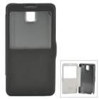 NILLKIN Fashionable Flip-open PU Leather Case w/ CID Window for Samsung Galaxy Note 3 N9000 - Black