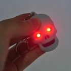 Creative Skull Style 2-LED Red Flashlight Keychain - Light Blue (3 x AG10)