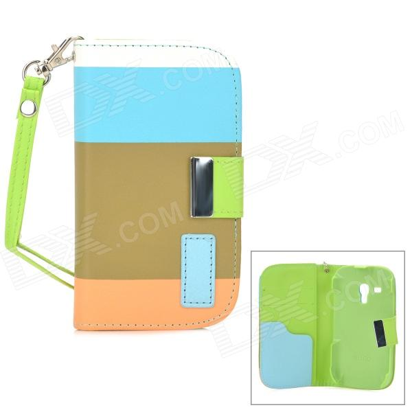 Protective PU leather + Plastic Case for Samsung Galaxy S3 Mini i8190