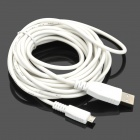 Universal USB Male to Micro USB Male Data Sync & Charging Cable - White (400cm)