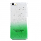 Water Drop Style Protective Plastic Back Case for iPhone 5c - Translucent Green + Transparent