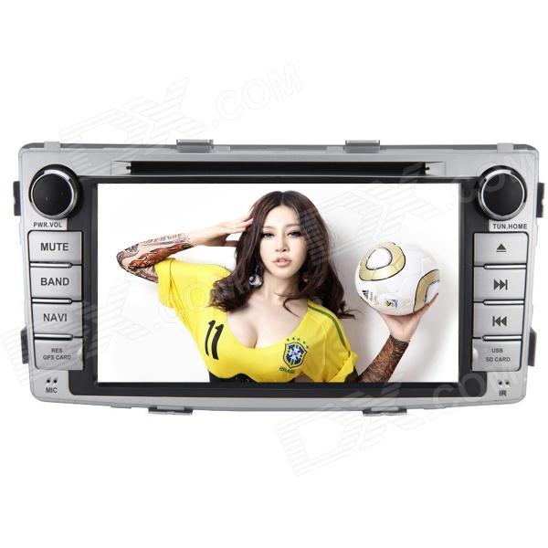 Joyous J-8621MX 6.95 Inch Car Radio w/ DVD, GPS, Bluetooth, AUX for Toyota HILUX(2012) - Silver