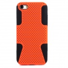 2-in-1 Protective Plastic + Silicone Back Case for Iphone 5C - Black + Orange