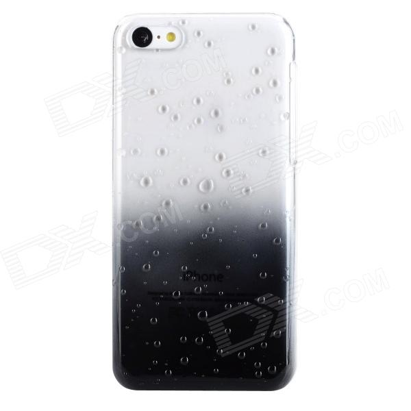 Water Drop Gradual Change Style Protective Plastic Back Case for Iphone 5C - Black + Transparent
