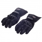 MADBIKE MD015# Stylish Waterproof Warm Full Finger Motorcycle Racing Gloves - Black (Pair / Size-L)