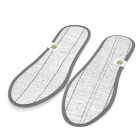 Smell Removing Bamboo Charcoal Cloth Shoe Insole Pads - Grey + White (Pair / 44)