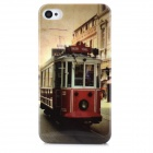 London Train Style Protective Plastic Back Case for Iphone 4 / 4S - Multicolor