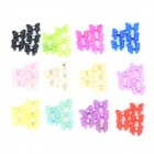 Nail Art Decoration 3D Butterfly Shaped Patches - Multicolored