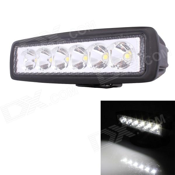 30 Degree Spot 18W 1260lm 6000K 6-LED Working Light / Daytime Running Light / Off-Road Lamp - Black brand new universal 40 w 6 inch 12 v led car work light daytime running lights combo light off road 4 x 4 truck light