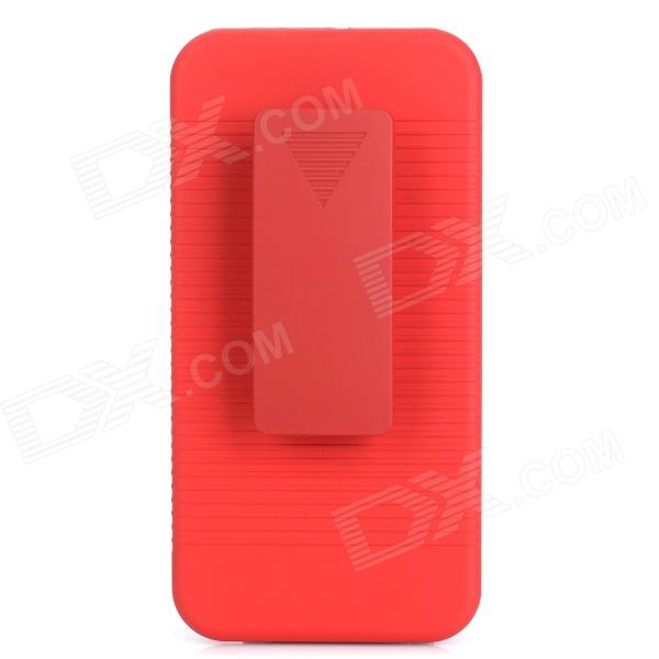 Stylish Protective Plastic Back Case w/ Stand for Iphone 5C - Dark Red stylish protective silicone back case for iphone 5c grey