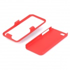 Stylish Protective Plastic Back Case w/ Stand for Iphone 5C - Dark Red