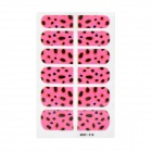MGF530G Stylish Nail Beautifying / Decorating Sticker - Black + Deep Pink