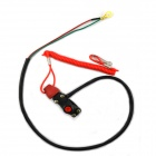 Jtron DIY Motorcycle / Dirt Bike Dual Emergency Shutdown / ATV Kill Switch - Black + Red
