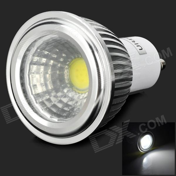 UItraFire 3WCOB 3w 180lm 6000k GU10 White Light LED Spotlight Lamp - Silver + White (85V~265V)